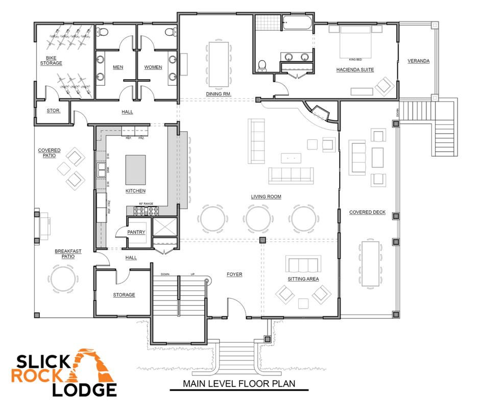Slick Rock Family Lodge Main Level Floor Plans