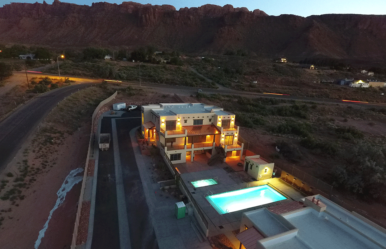 Slick Rock Lodge by Night